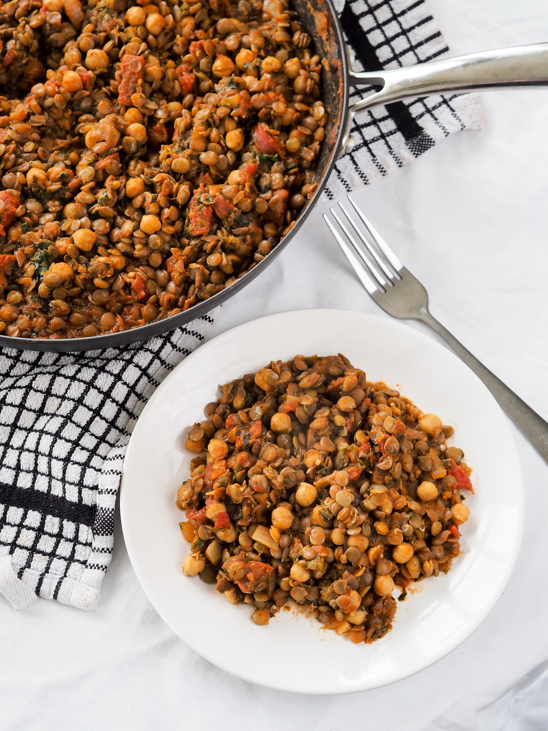 tomato, lentil and chickpea stew