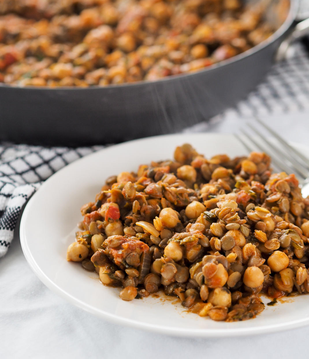 smokey lentil and chickpea stew