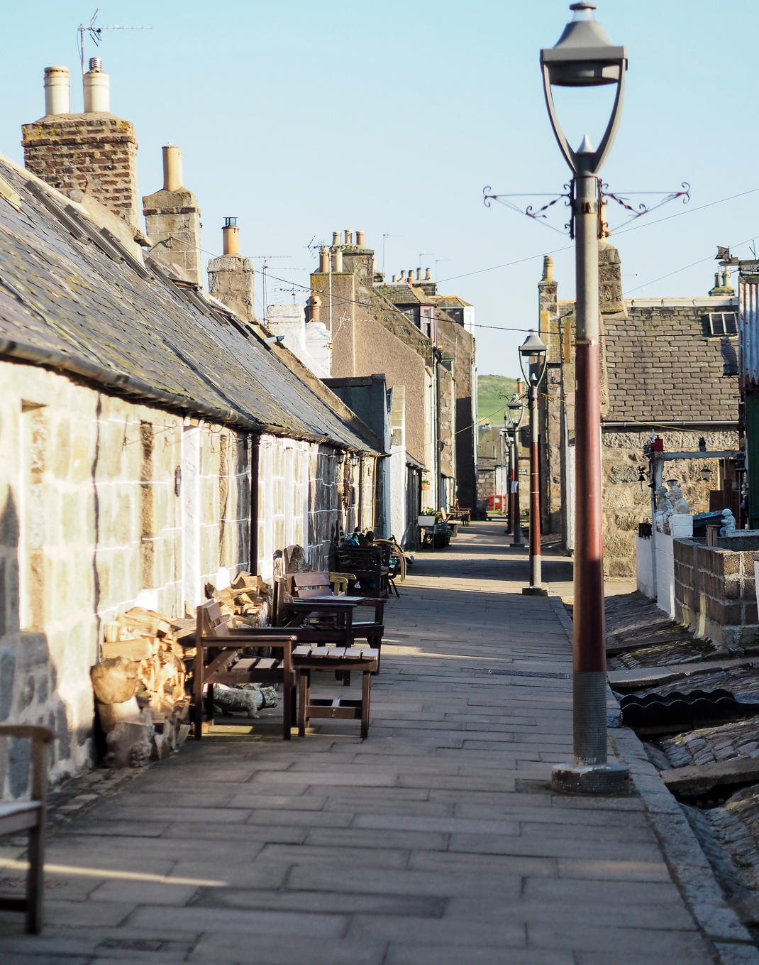 Footdee fishing cottages in Aberdeen