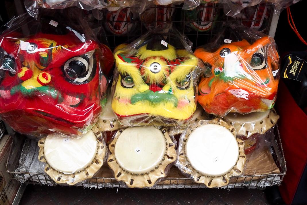 chinese lion masks