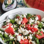 watermelon feta and rocket salad with balsamic dressing