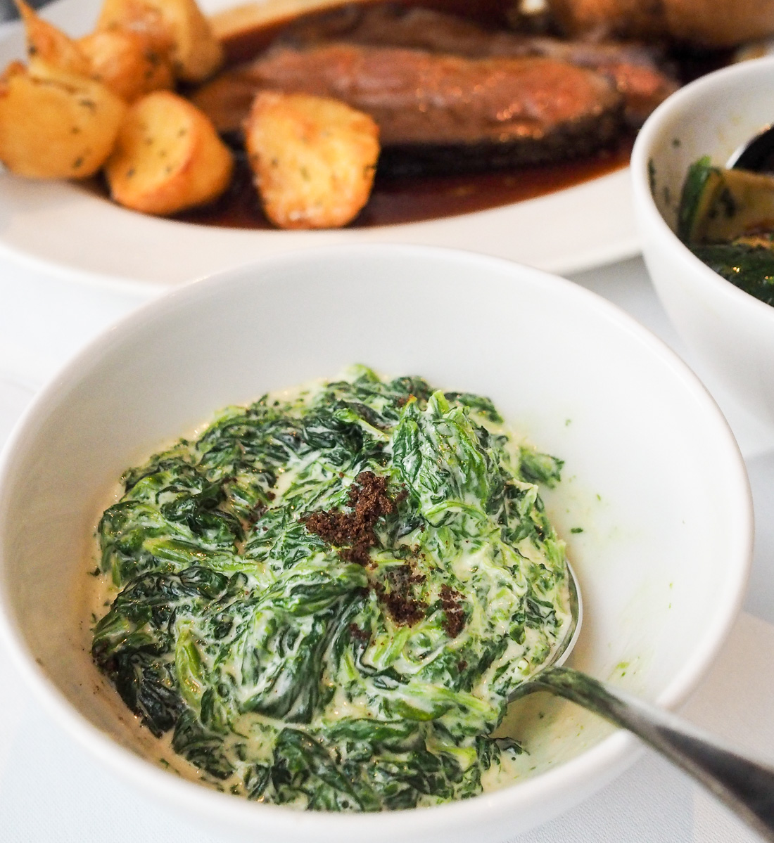 creamed spinach and nutmeg