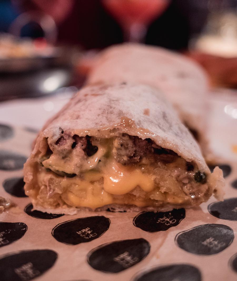 Cheese burgerito