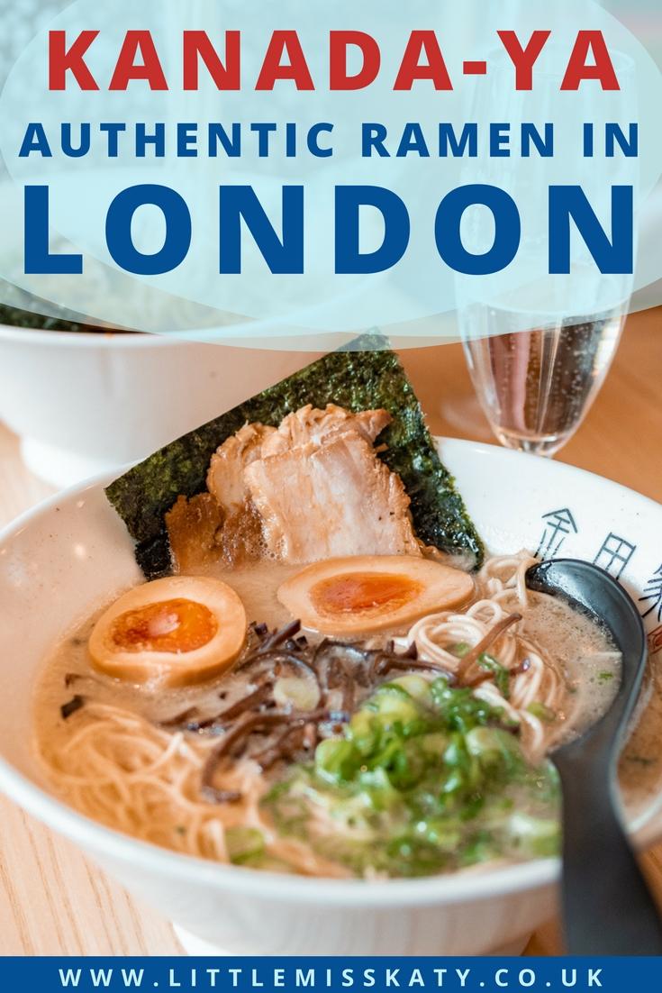 Where to eat authentic Japanese Ramen in London: Kanada-Ya