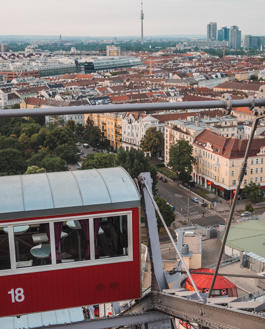 views from the vienna ferris wheel