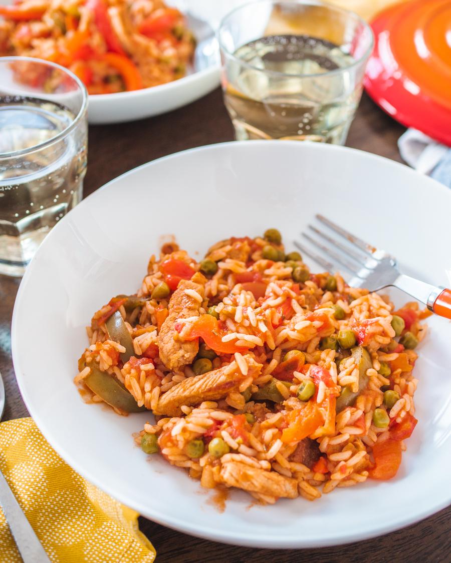 Uncle Ben's recipe - Mediterranean Pork and Tomato Rice