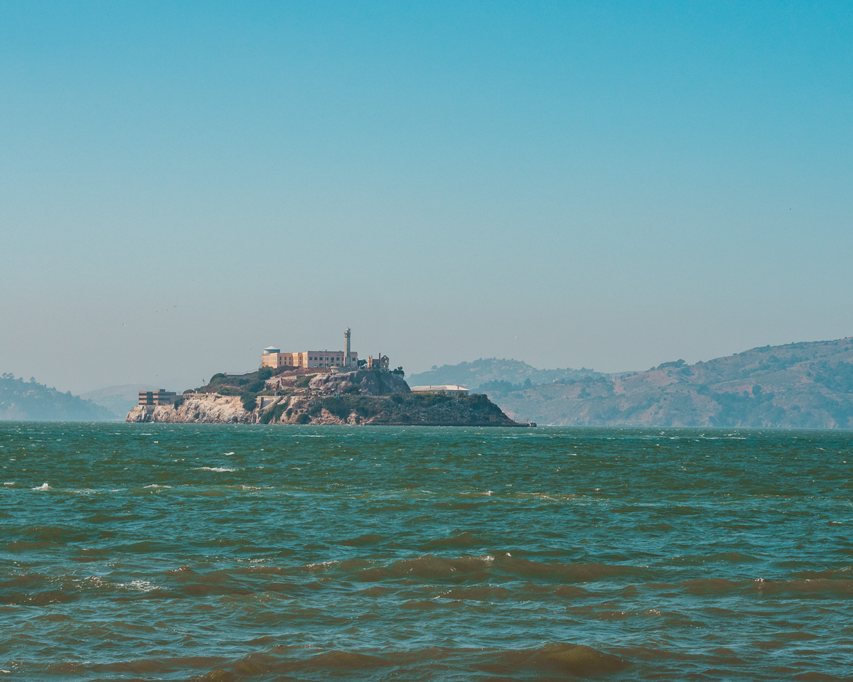 View of Alcatraz from Pier 39 in San Francisco