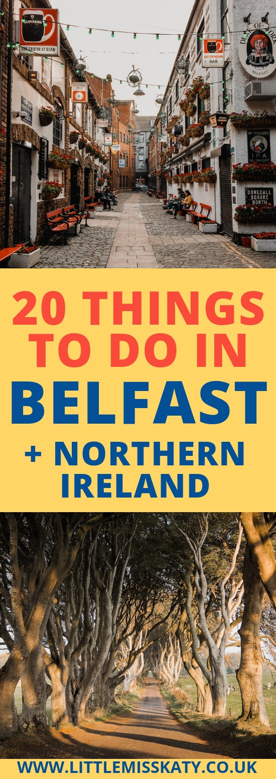 Things to do in Belfast pinterest image