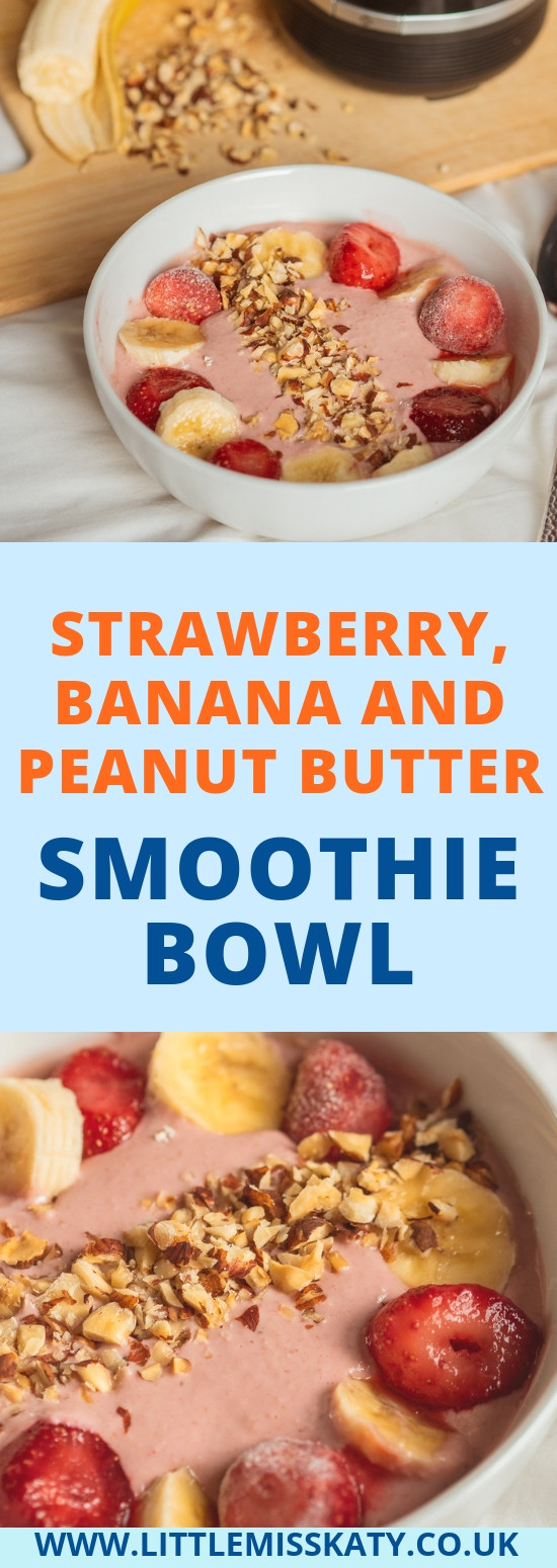 Breville strawberry, banana and peanut butter smoothie bowl