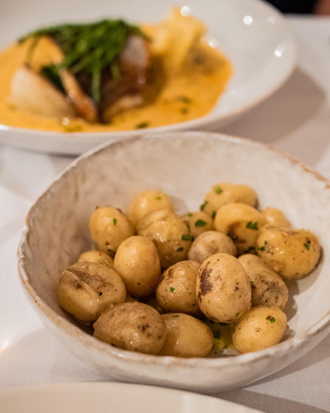 Jersey royal potatoes at Sumas
