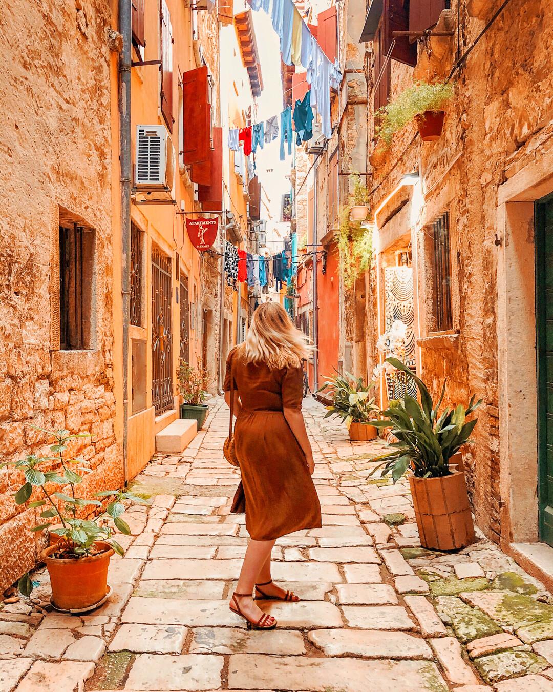 Rovinj colorful town Croatia