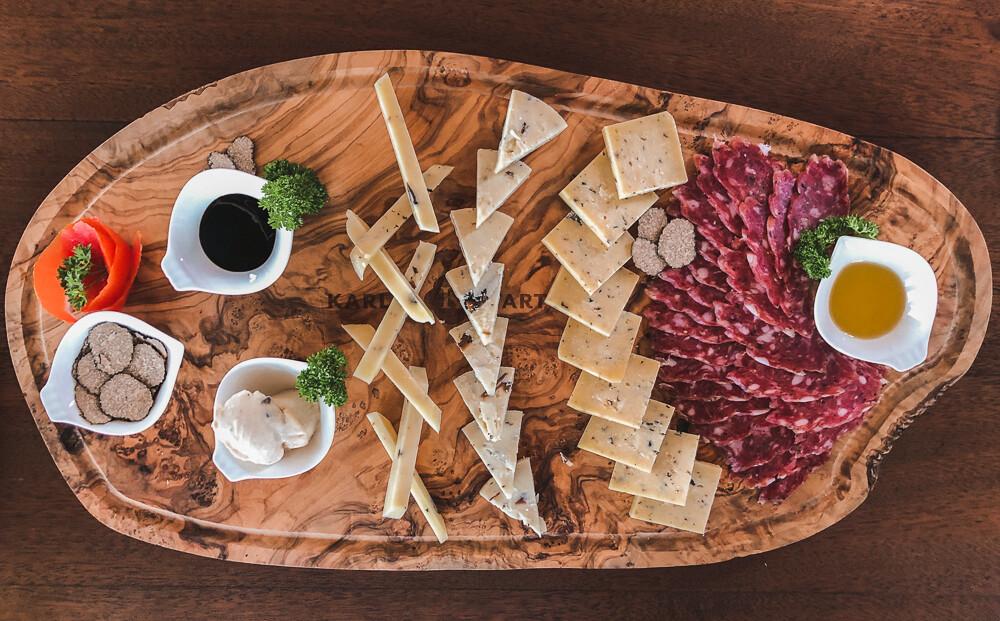 truffle tasting board, Istria