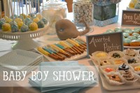 Whale Baby Boy Shower Ideas