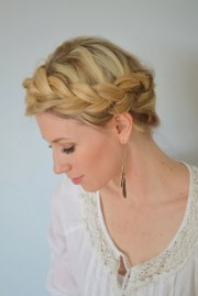 boho crown braid tutorial