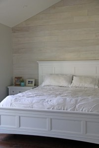 how to make a white washed wood plank wall