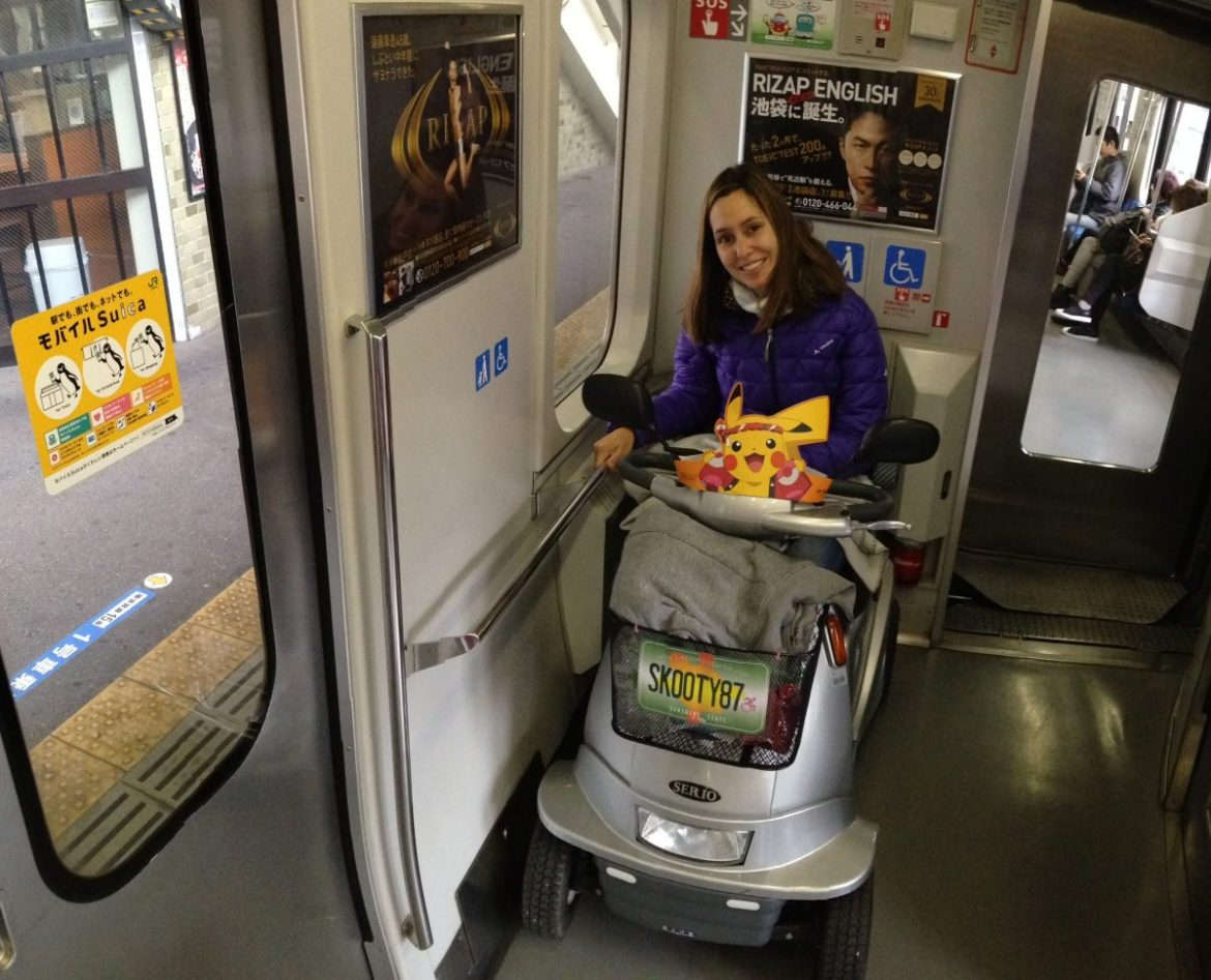 Wheelchair spot on JR Train | Little Miss Turtle | Wheelchair Travel Blog
