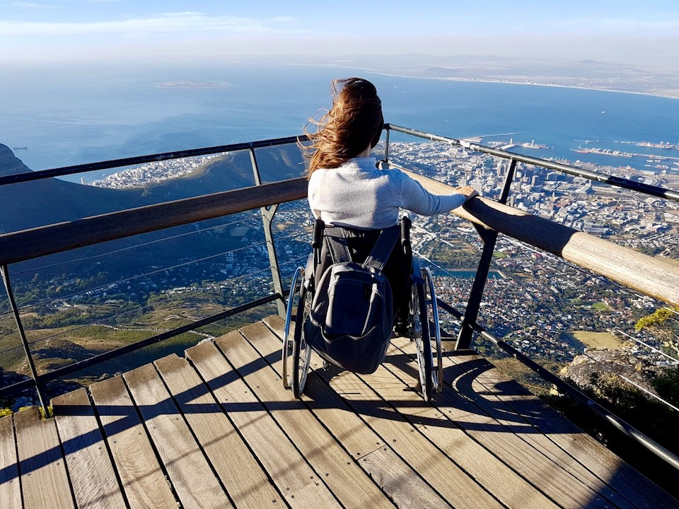 View of Cape Town's City Bowl from the top of the wheelchair-accessible Table Mountain | Little Miss Turtle