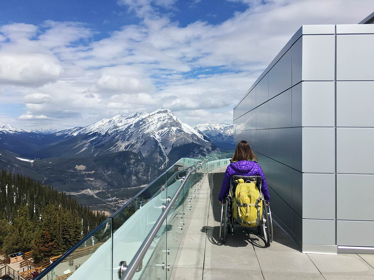 Fully wheelchair accessible Banff Gondola Brewster Experience | Little Miss Turtle | Wheelchair Travel Blog