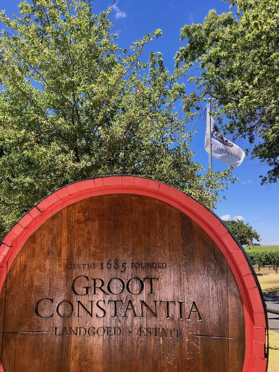 Groot Constantia Wine Estate near Cape Town