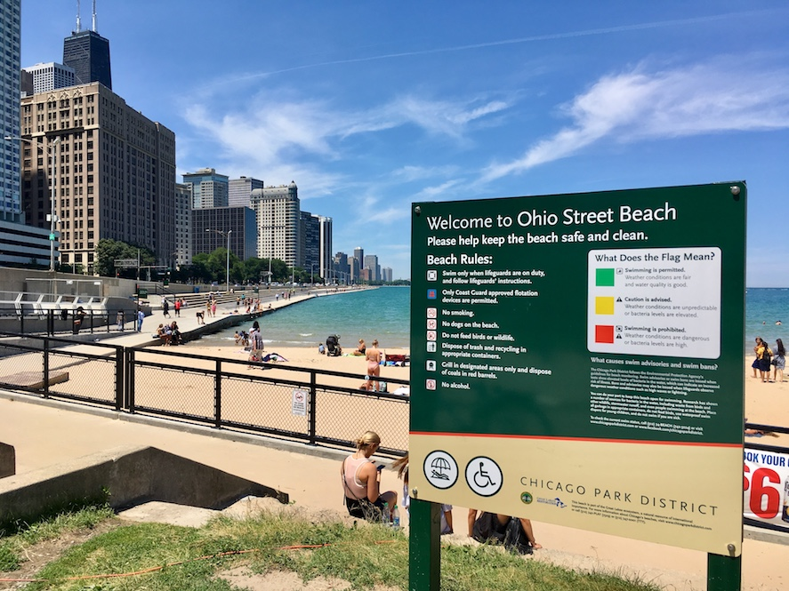 Accessible Ohio Street Beach Chicago | Little Miss Turtle