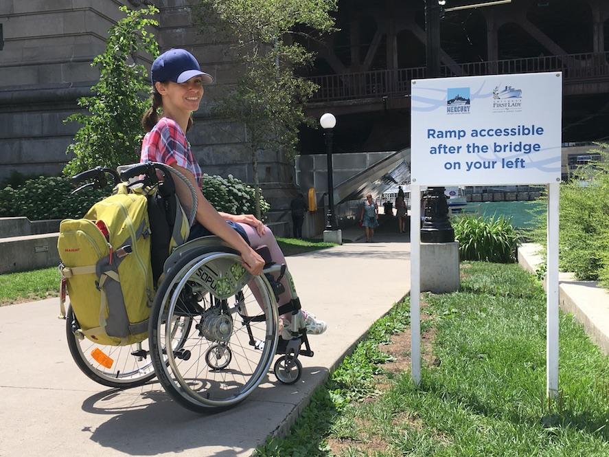 Accessible Ramp Chicago Riverwalk | Little Miss Turtle