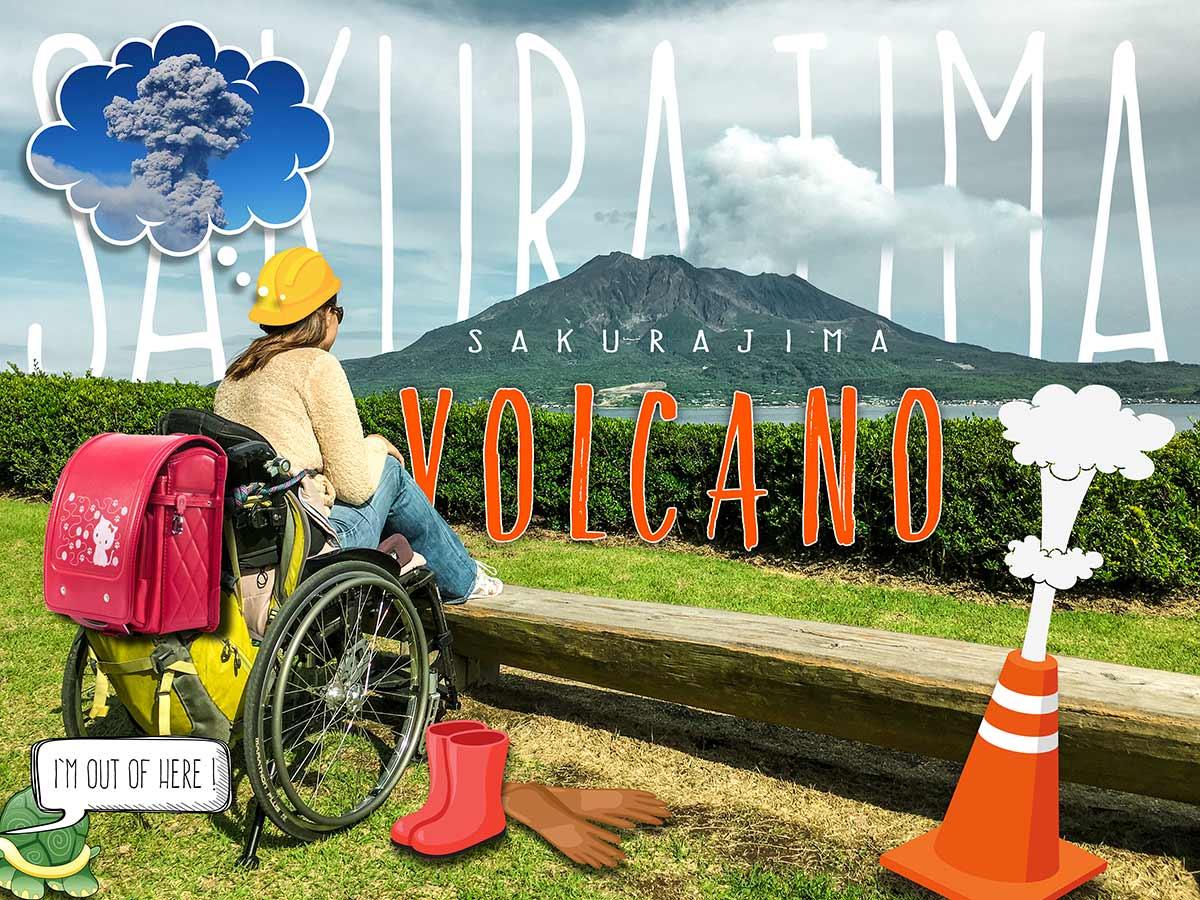 Sakurajima Ferry & Sakurajima Volcano in a wheelchair | Little Miss Turtle
