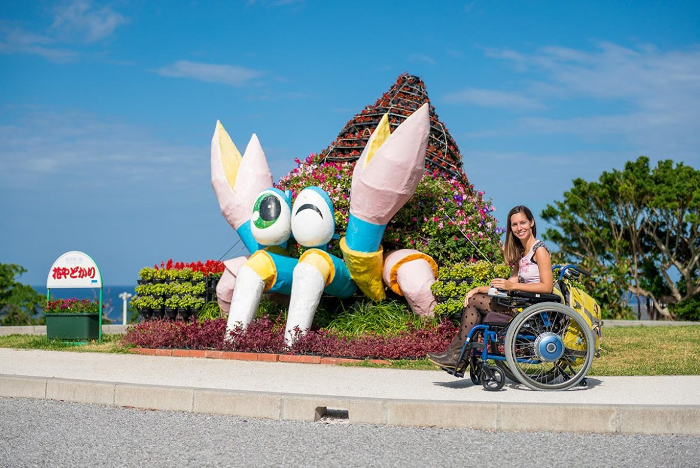 Free motorized wheelchair rental | Churaumi Aquarium & Ocean Expo Park Okinawa | Little Miss Turtle | Wheelchair Travel Blog