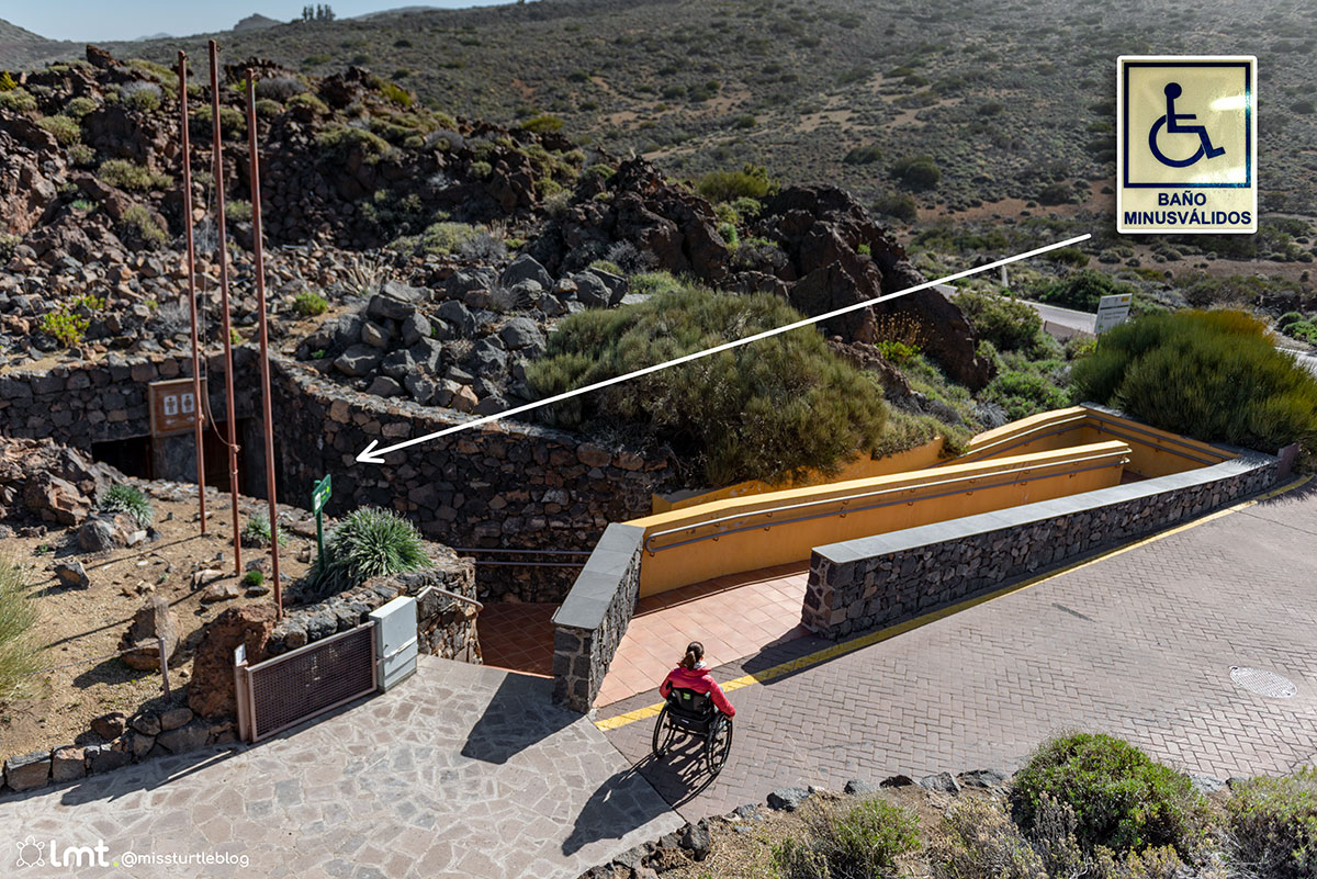 Accessible restrooms El Portillo Visitor Center Teide National Park
