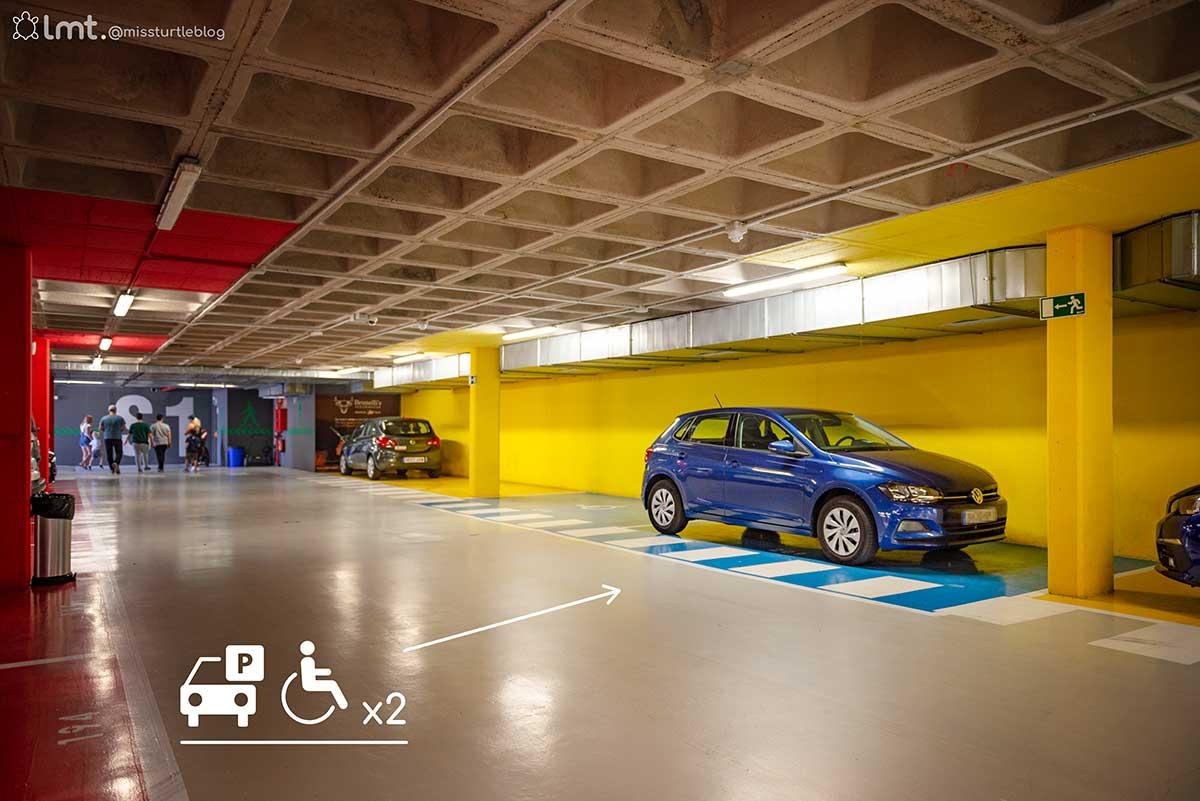 Accessible underground car park