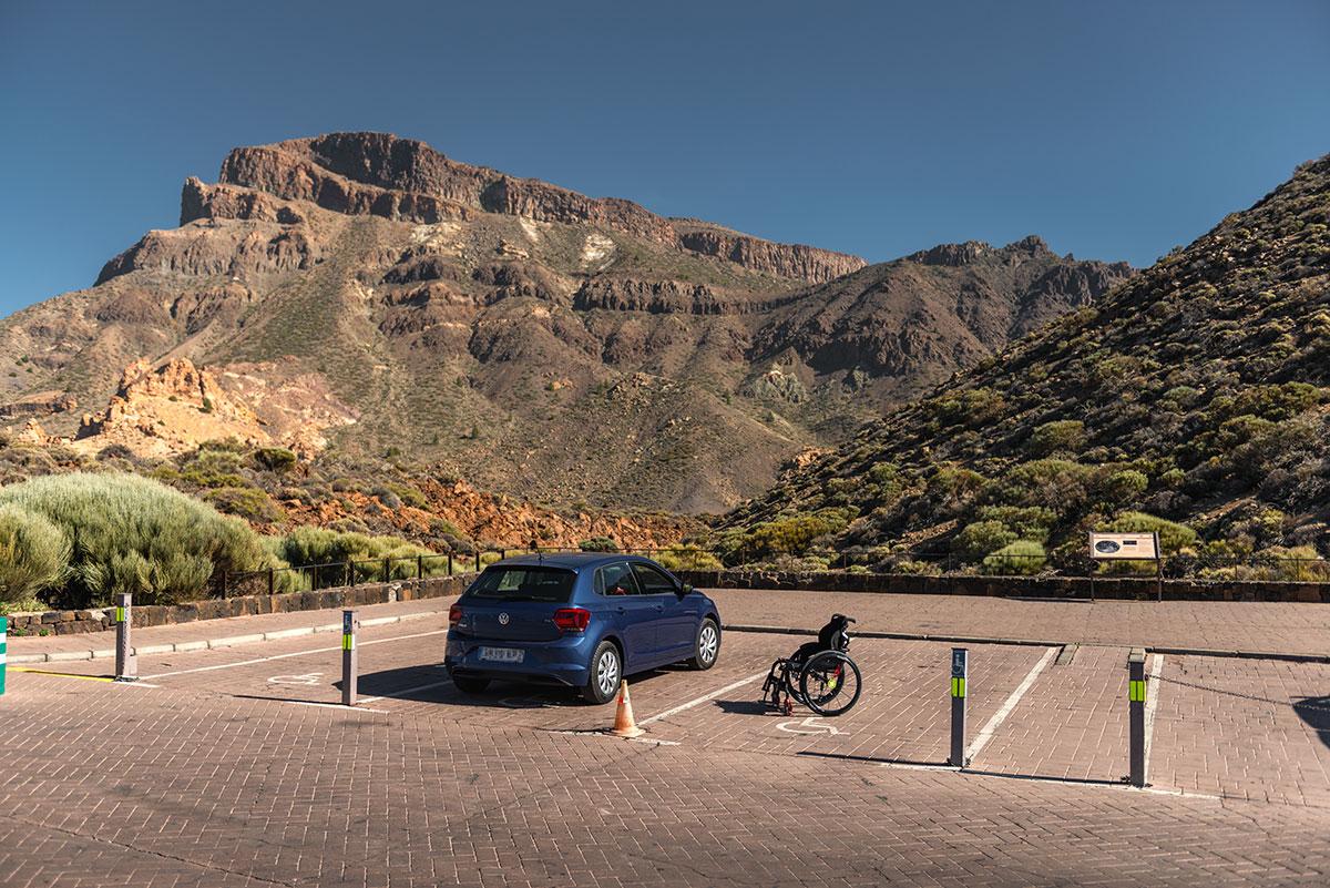 Handicap Parking at Roques de García