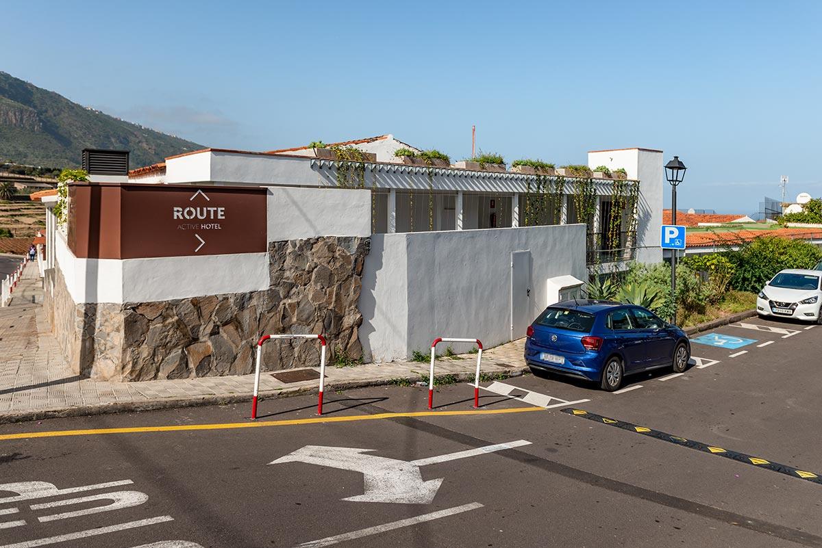 Handicap parking Route Active Hotel