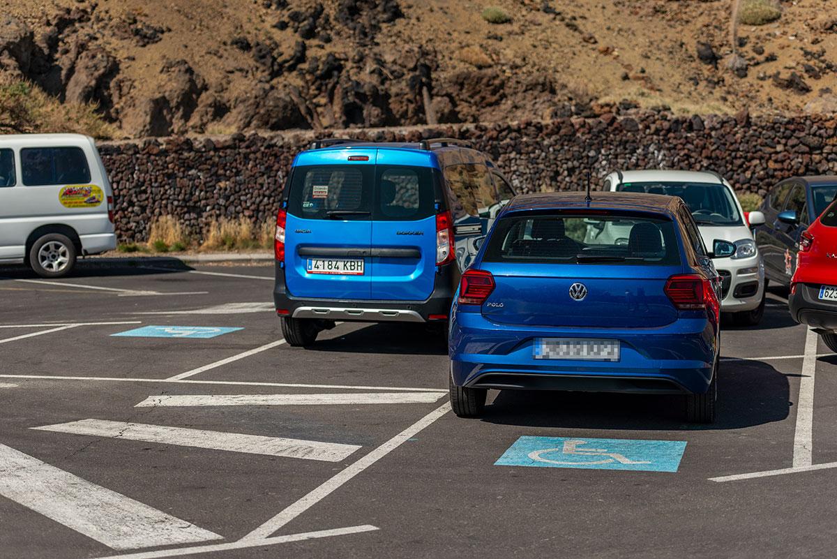 Handicap parking at Teide Cable Car