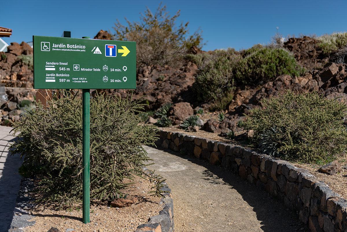 Jardin Botanico accessible path El Portillo Visitor Center