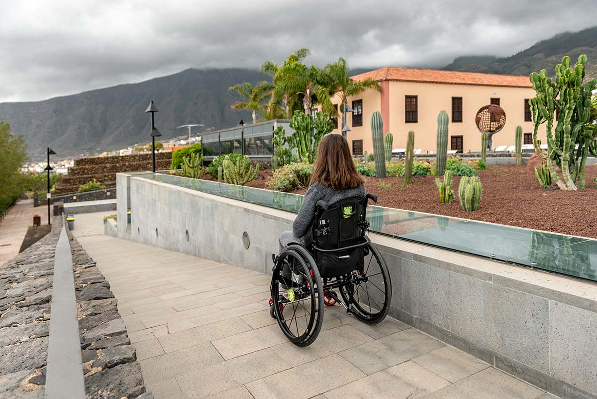 Wheelchair ramp at Piramides de Güimar