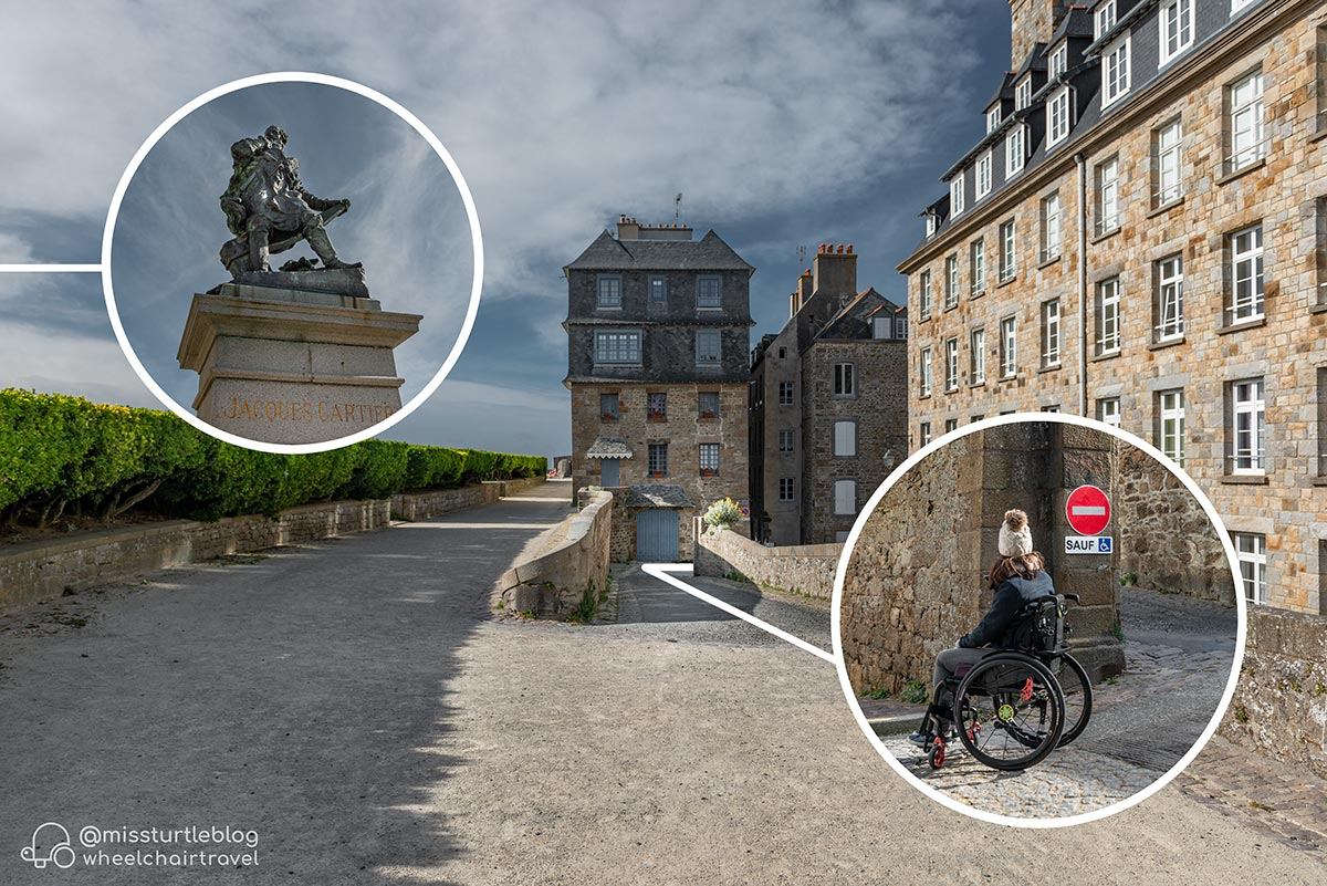 Access ramp at Bastion de la Hollande | Little Miss Turtle | Wheelchair Travel Blog