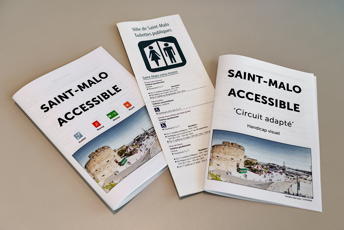 Accessibility brochures of St Malo | Little Miss Turtle | Wheelchair Travel Blog