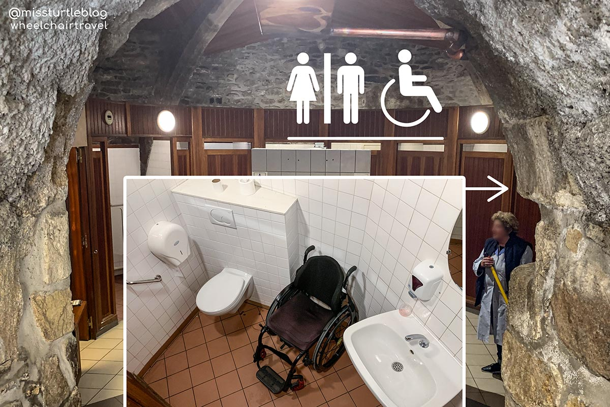Accessible restroom Gate La Grande Porte St Malo | Little Miss Turtle | Wheelchair Travel Blog