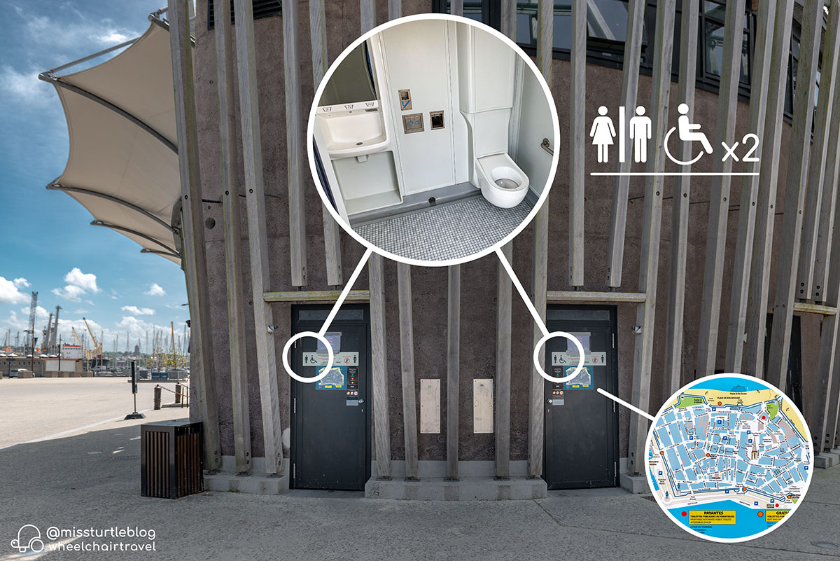 Accessible restrooms behind Tourist Office | Little Miss Turtle | Wheelchair Travel Blog
