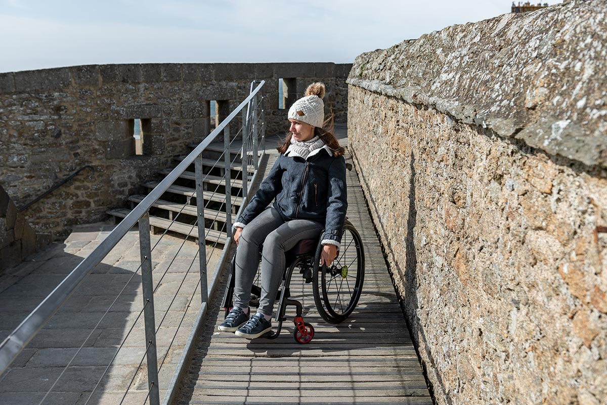 Wheelchair ramp in St Malo | Little Miss Turtle | Wheelchair Travel Blog