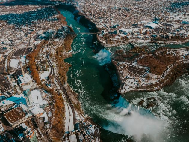 Niagara Falls Helicopter view kate winney travel toronto