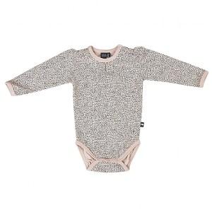 KIDS-UP BABY | BODYSTOCKING MED PRIKKER - STØVET ROSA