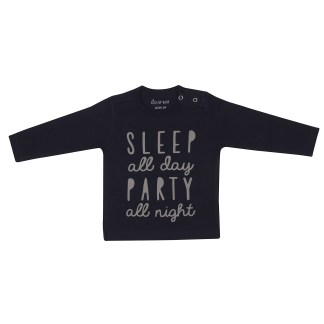 KIDS UP BABY | BLUSE MED TEKST - NAVY