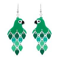 Parrot Green Diamond Earrings