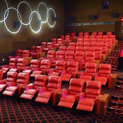 Theater Recliner Chairs Black And White Paisley Accent Chair Cinema/multiplex | Littlenap