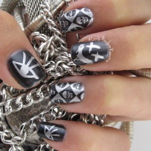 Punk Rock Inspired Nail Art
