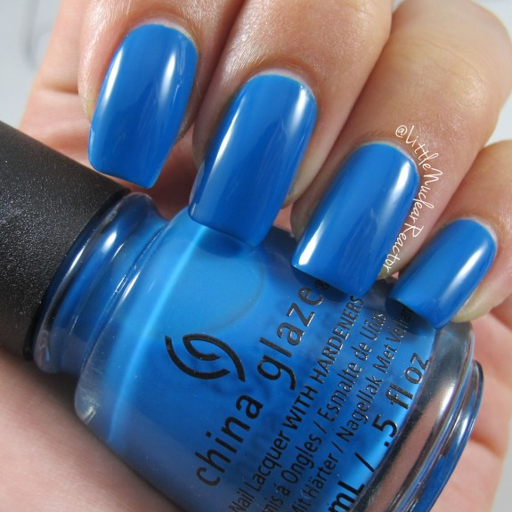 China Glaze nail polish swatch in License and Registration Pls