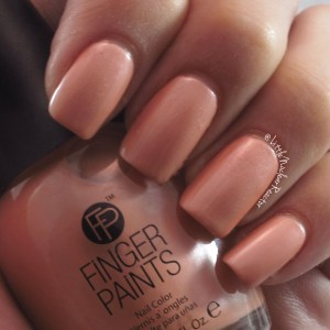 Fingers Paints nail polish swatch in Peach Picasso