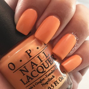 OPI nail polish swatch in Where did Suzie's Mango?