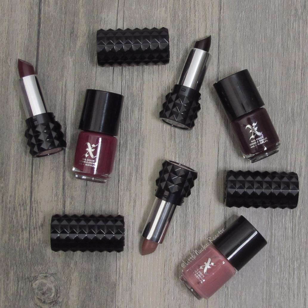 Studded X: 3 Mini Lip + 3 Nail Polish Duos ~ LittleNuclearReactor
