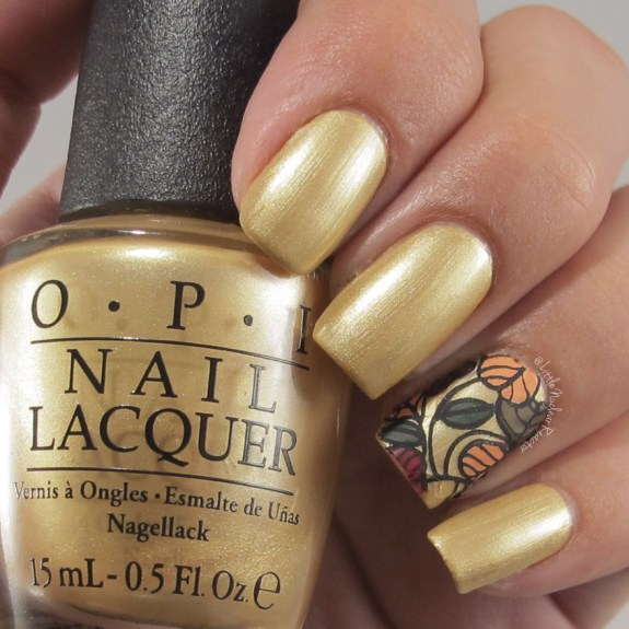 OPI in Rollin inCashmere Thanksgiving Nail Art
